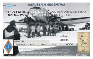 51° Aniversario del 1°aterrizaje de un avion Argentino en el Polo Sur